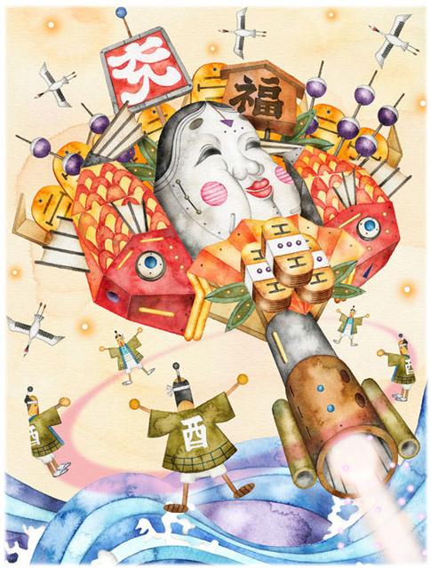 酉の市・熊手ロケット